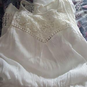 Boho white summer dress